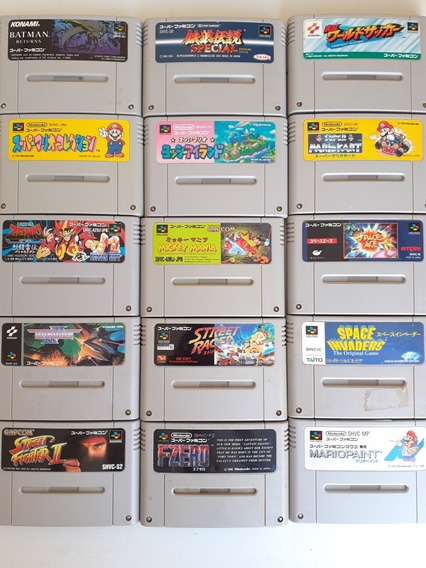 15 Cartuchos Super Famicom Originais Japones