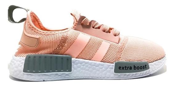 Zapatillas Mujer Gummi Verano Elastico Running Ultra D Rosa