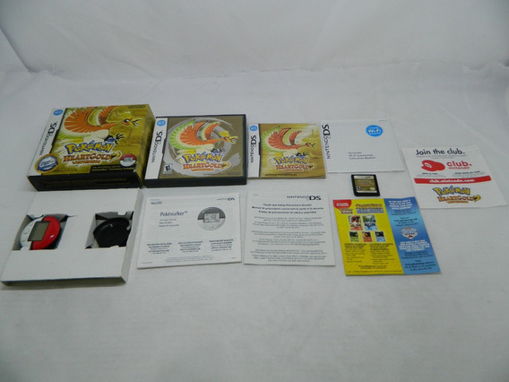 Pokemon Heartgold Original Nintendo Ds - Completa Pokewalker