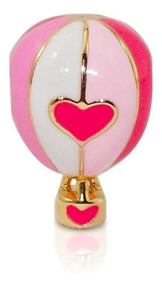 Berloque Folheado - Balão Rosa - Pulseira Vivara Pandora
