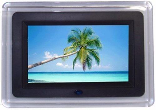 Porta Retrato Digital 7 Pol Lcd Videos Usb C/ Controle Preto