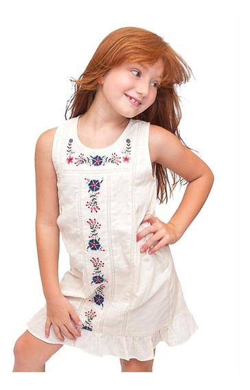 Witty Girls Vestido Flores Flowers Bordado Nena Ropa Niñas