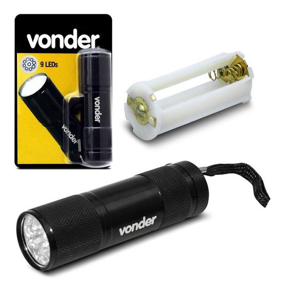 Lanterna Tipo Chaveiro Vonder Llv 0009 9 Leds 30 Lm Branca