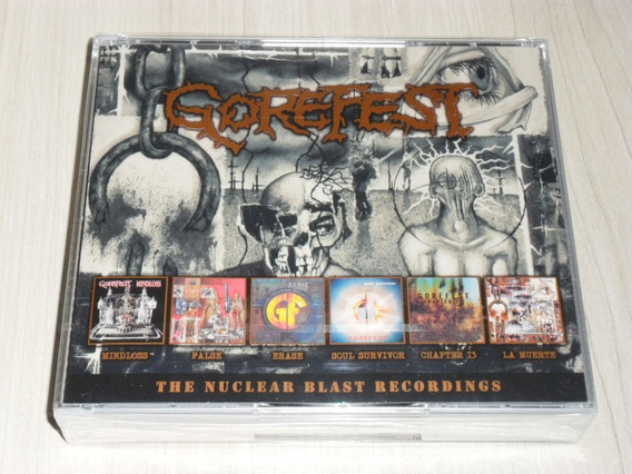 Box Gorefest - The Nuclear Blast Recordings (alemão 6 Cd