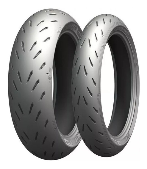 Par Pneu Michelin Power Rs 180/55-17 E 120/70-17