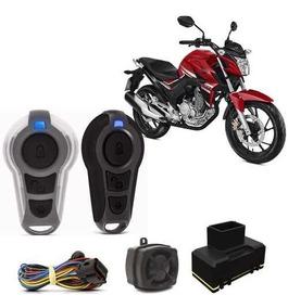 Alarme Moto Presença Honda Twister Partida Elétrica Controle