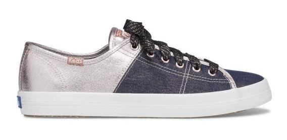 Zapatos Mujer Keds Kickstart Navy/gold Shine Bright