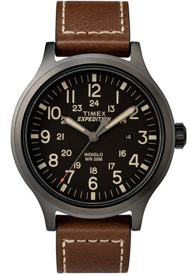 Reloj Timex Expedition Scout 43 Para Hombres, Marrón/negro