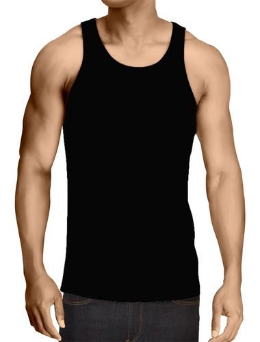 Imagem 1 de 2 de Lucinoze Camisetas-regata-lisa-básica-preta-promoção