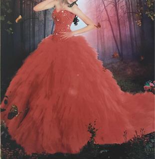 ¡hermoso Vestido De Xv Años!