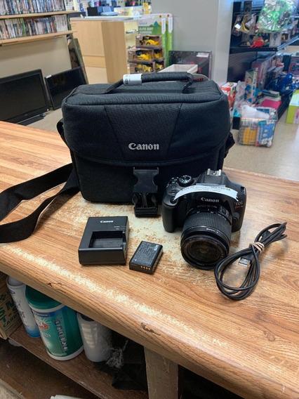 Canon Eos Rebel T6 18.0mp Digital Slr Camera - Black W/ 18-5