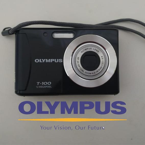 Câmera Digital Olympus T-100 12 Megapixel Preta | Sd 2gb