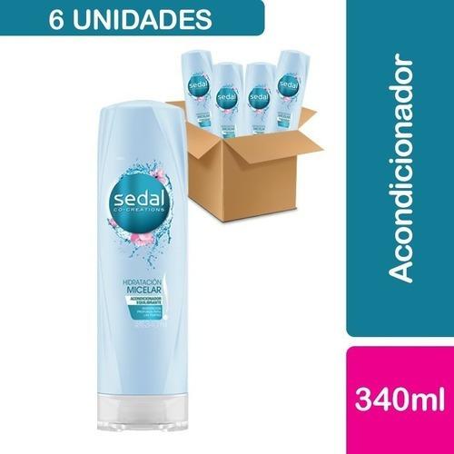 6 Acondicionadores Sedal Hidratación Micelar 340 Ml