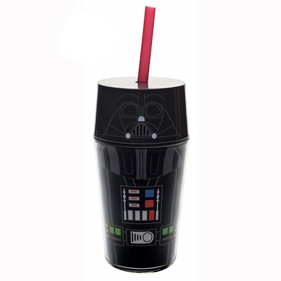 Vaso Con Popote Darth Vader Star Wars