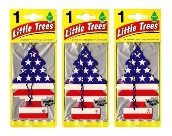 3 Un. Aromatizante Árvore Cheirinho Para Carro Little Trees