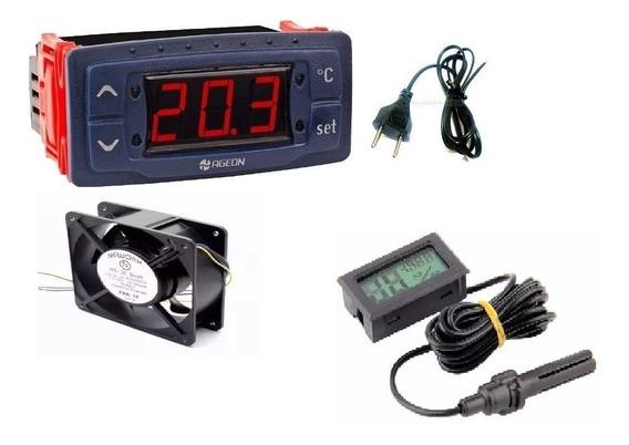 Termostato,temporizador,ventilador Profissional,termohigrometro Medidor De Umidade