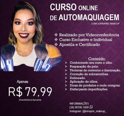 Curso Online De Automaquiagem Individual E Exclusivo