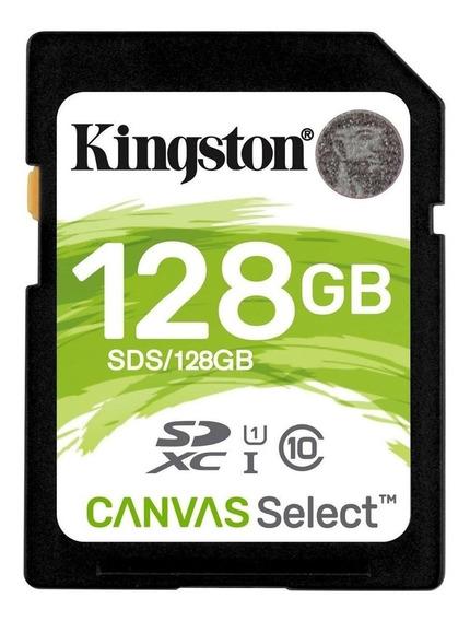 Cartão de memória Kingston SDS Canvas Select com adaptador SD 128GB