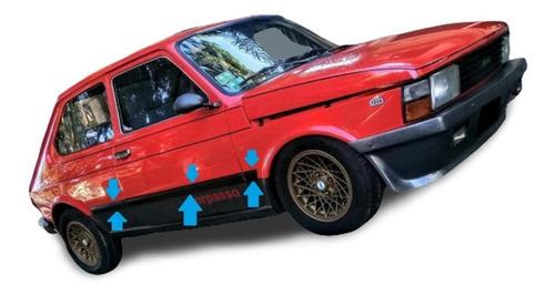 Fiat 147 Sorpasso Iava Baguetas Laterales Molduras Negras !!