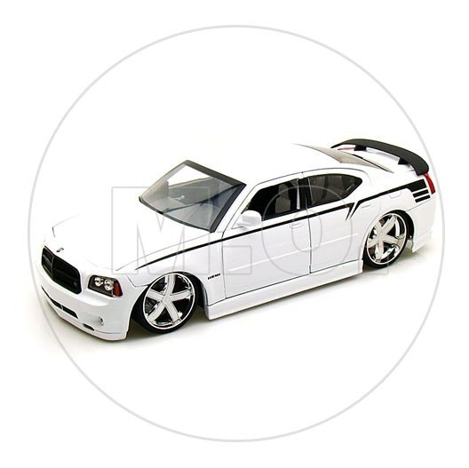 1:18 - Jada Toys Dodge Charger Srt8 2006 - Branco