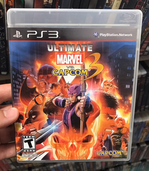 Ultimate Marvel Vs. Capcom 3 Ps3 Original Com Manual