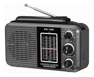 Radio Unisef Dual Am/fm Pr-188 Usb/mp3/sd