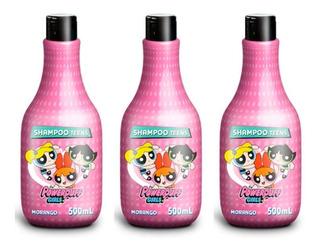 Teens Powerpuff Girls Shampoo Morango 500ml (kit C/03)