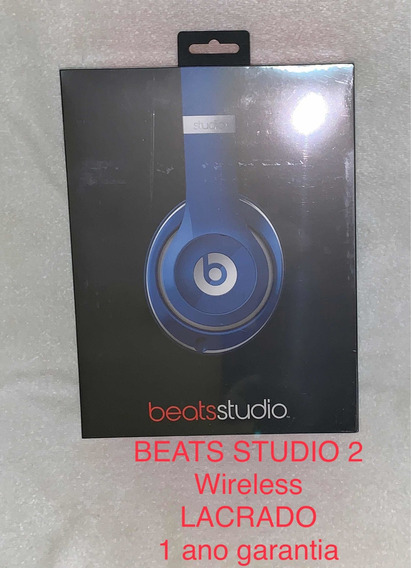 Beats Studio 2 Wireless Azul Lacrado 1 Ano De Garantia