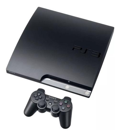 Kit Playstation 3 Slim Classico Novo + 2 Controles Barato