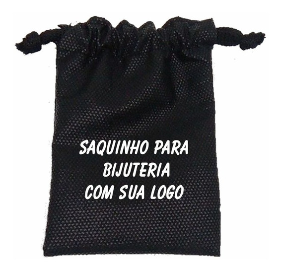 500 Saquinhos Para Bijuterias Joias C/ Sua Logo 8x12cm