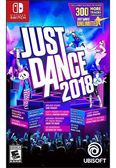 Just Dance 2018 Switch Mídia Física Lacrado