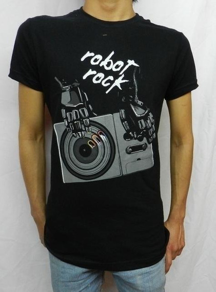 Playera Larva Daft Punk Robot Rock Mixer