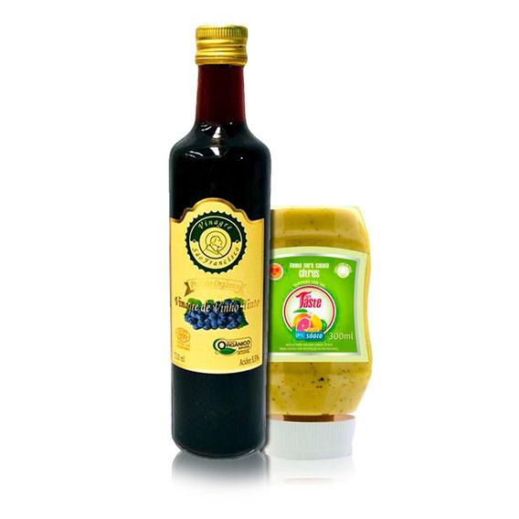 Kit - Vinagre Orgânico 500ml + Molho Citrus