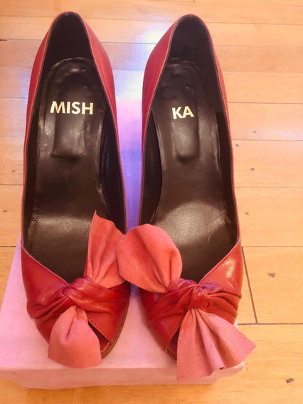 Zapatos Mishka Stilettos Mujer Rojo