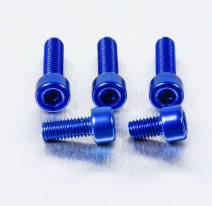 Parafusos Tampa Tanque Alumínio Suzuki Gsxr Hayabusa Azul