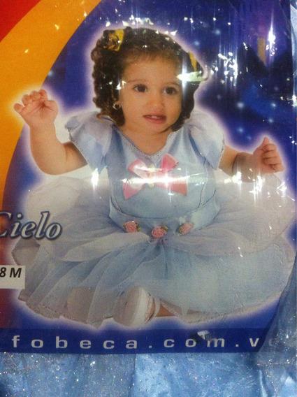 Disfraz Bebe Azul Cielo Nuevo 6 A 12 Meses