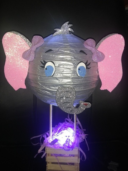 Lámpara Elefante Centro De Mesa ( 6 Piezas )