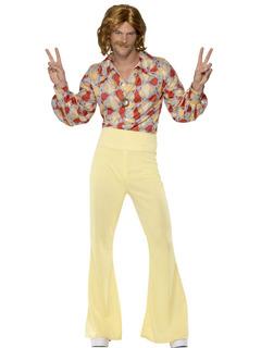 Groovy Chico Años 60 Años 70 Traje Disco Mens Abba Hippie