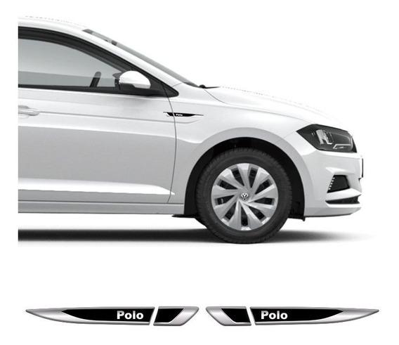 Par Emblema Lateral Volkswagen Vw Polo Resinado