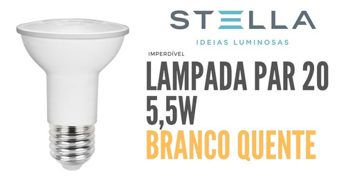 Par 20 Stella 5,5w 3000k Branco Quente - Sth9020/30