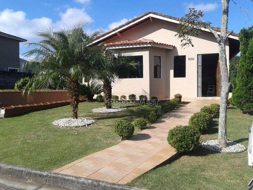 Casa Com 4 Dormitórios À Venda, 294 M² Por R$ 1.100.000,00 - Paysage Vert - Vargem Grande Paulista/sp - Ca11307