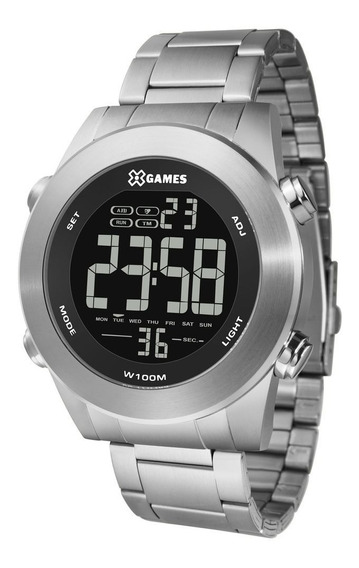 Relógio Xgames Masculino Xmssd001 Pxsx Digital Aço Negativo