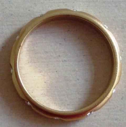A7265 Delicado Anel Tipo Aliança, Em Metal Dourado Com 10 Pe