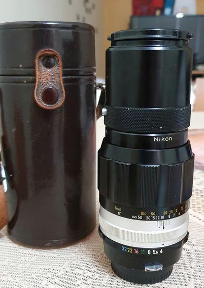 Lente Nikon 200 Mm, F/4 Em Excelente Estado