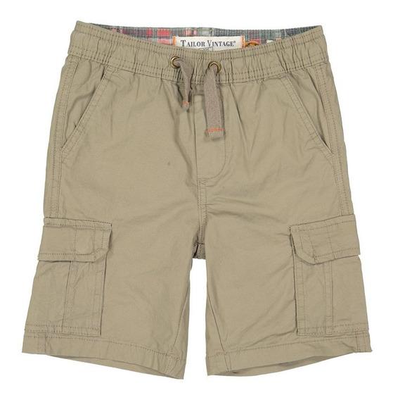 Shorts Para Niño Tailor Vintage Tipo Cargo