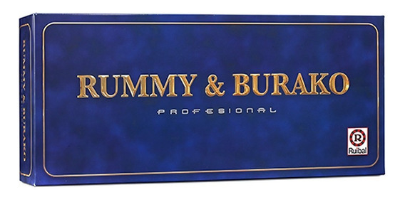 Rummy & Burako Profesional Ruibal Con Relieve Original