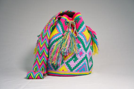 Bolsa Wayuu Estampada - Colombinarte