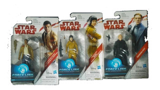 Lote De 3 Figuras De Star Wars Force Link