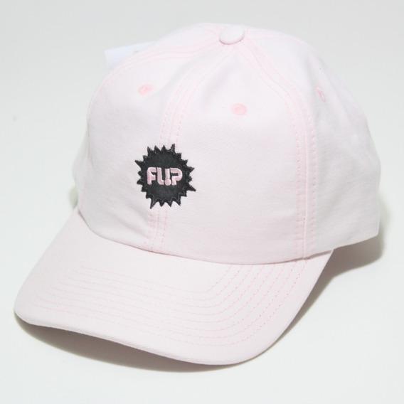 Boné Dad Hat Aba Curva Flip Original Rosa
