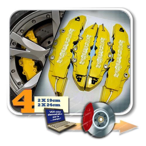 Cubre Caliper X4 3d Amarillo 2x19 Y 2x24 Tuningchrome